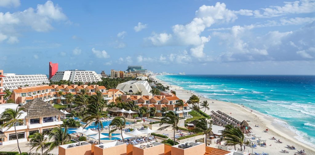 Cancun over developed beach