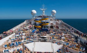 Cruise ship full of people